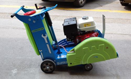 Asfalto-betono pjūklas su vežimėliu,  benzinas, d=450mm
