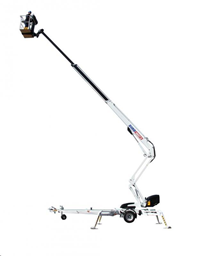 Korviga teleskooptõstuk, järelveetav (220V), 18m DINO