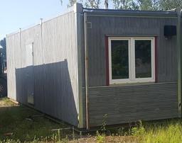 Koka moduļu konteineri, 2,9x8,4m (1 biroja istaba) [LV]