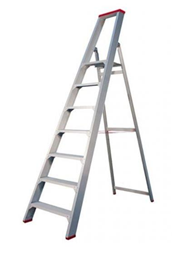 Skečiamos kopėčios su aikštele, viršutinės aikštelės aukštis - 1,7m
