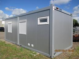 Konteineris-biuras namelis (ofisas su sanitariniu mazgu), 24`, H=2,8m