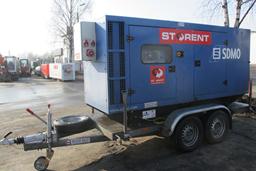Generaator diisel, poolhaagis, 130kW