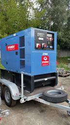 Dyzelinis generatorius priekaba,48kW, 24h