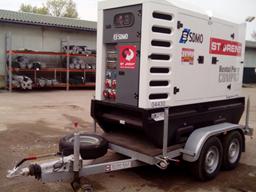 Dyzelinis generatorius, priekaba, 80kW, 24h