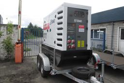 Generaator, diisel, poolhaagis 100kW